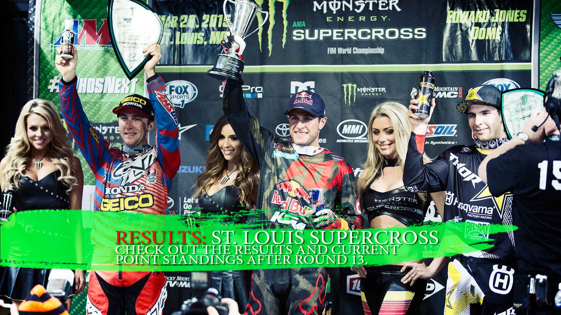RESULTS: St. Louis Supercross Round 13