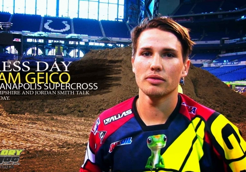 Indianapolis SX Press Day: Team Geico Honda Lites Riders