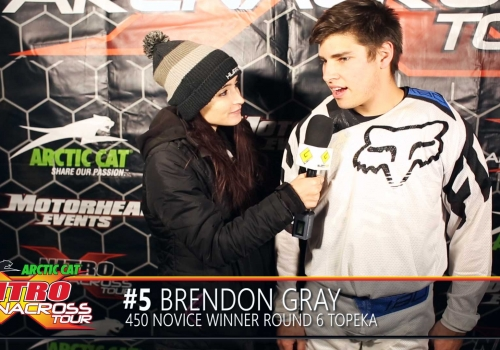 Nitro AX Tour Rider Spotlight: Brandon Gray 450 Novice Topeka Arenacross