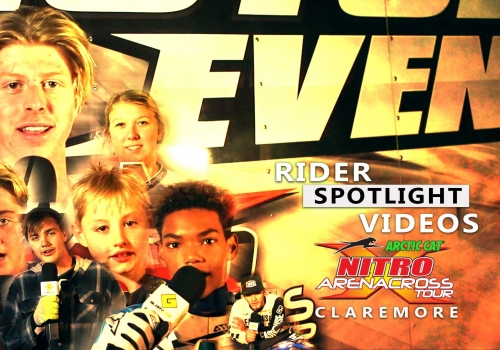 Nitro Arenacross Tour Rider Spotlight Videos - Claremore