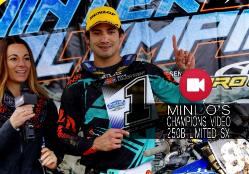 '14 Mini O's 250B Limited SX Champion Lorenzo Locurcio