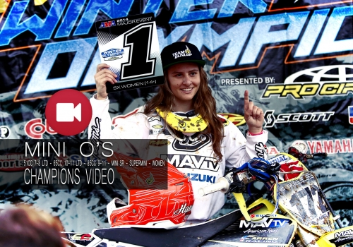 '14 Mini O's Supercross Mini Bike and Women Classes Wed Champions