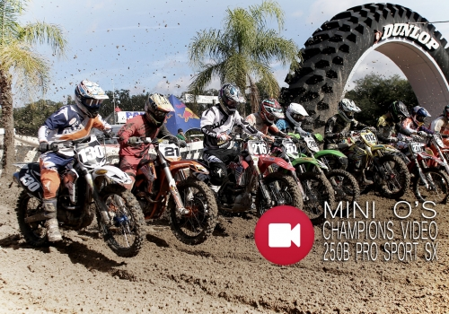 '14 Mini O's SX 250 Pro Sport Wednesday Champion